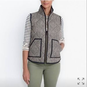 J.Crew Printed Quilted Puffer Vest